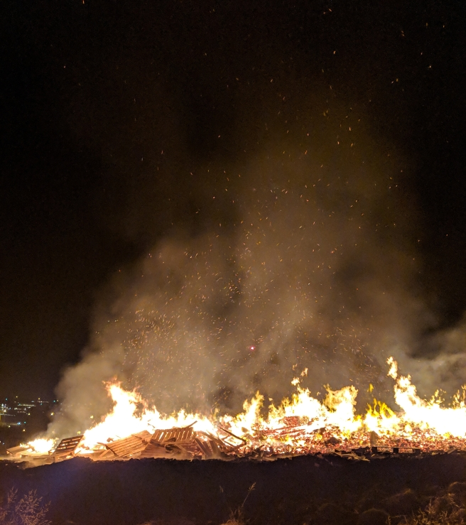 Bonfire in Reykjavik